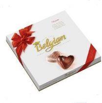 情人节专项批发比利时白丽人心形巧克力―让爱心自由飞翔