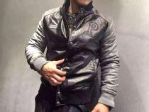 PP(菲利普▪普兰)新款皮夹克,采用进口洗水皮面料,厚度适中保暖