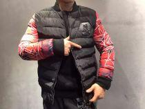 PP(飞利浦▪普兰)新款3D数码两袖红色印花羽绒外套,代理价:275