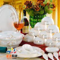 酒店宾馆餐具定做 景德镇陶瓷餐具厂家