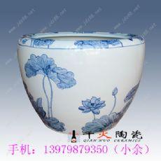 青花陶瓷荷花缸 陶瓷大缸厂家图片