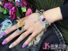 JK版最新爱心扣手镯款出货高端潘多拉手链手镯!好美。