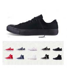 匡威经典款全黑色低帮帆布鞋1Z635