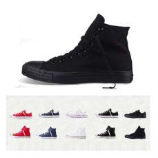 匡威经典款全黑色高帮帆布鞋1Z588