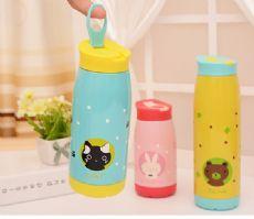 定做手提大肚杯保温杯便携创意不锈钢水杯礼品杯儿童节新年礼物