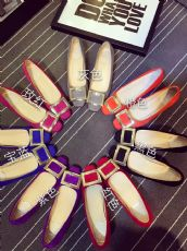 欧美女鞋高跟鞋方扣真皮浅口中跟粗跟鞋漆皮方头平底单鞋婚鞋