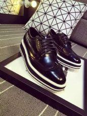 欧洲站春夏新款呛口小辣椒同款 平底真皮单鞋 松糕鞋女厚底鞋