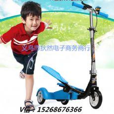 双翼健身代步车 儿童多功能健身车 成人健身休闲折叠踏板车批发