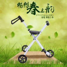 米高儿童折叠车轻便瑞士三轮手推车滑行车便携折叠童车滑轮椅