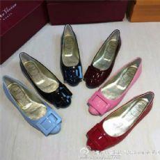 2016新款RV高仿浅口单鞋女鞋高档平跟鞋厂家一手货源直销