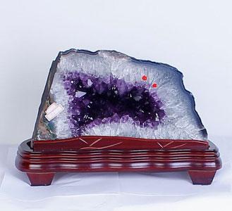天然水晶饰品、紫水晶洞摆件一件代发网店代销,买水晶上东海豪门天然水晶店