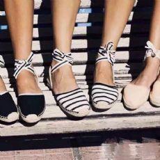 凉鞋女鞋2016新品平跟平底草编渔夫鞋罗马拼色交叉绑带系带条