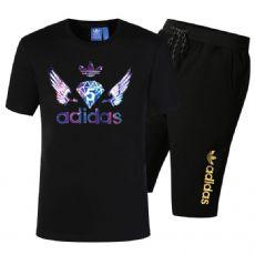 阿迪达斯 奥戴尔纯棉T恤 短袖短裤套装2