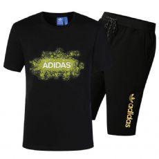 阿迪达斯 奥戴尔纯棉T恤 短袖短裤套装3