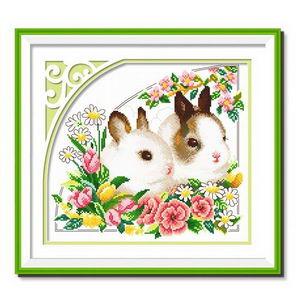 春天十字绣风景画,春天十字绣印花图案