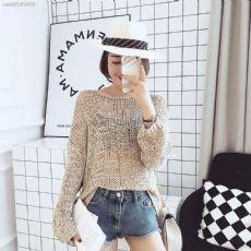 纯色针织织毛衣