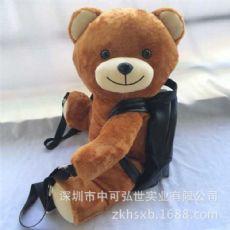 创意趴趴熊背包 时尚女式小熊双肩包 pu皮双肩背包 小熊背包