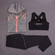 微商货源淘宝加盟代理一件代发瑜伽服三件套两件套健身服批发