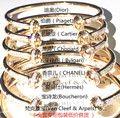 奢侈品牌珠宝批发全套包装支持验货真金真钻手镯项链戒指图片