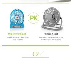 秋季促销款迷你usb充电小风扇批发 工厂库存七个颜色