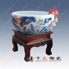 景德镇陶瓷缸批发厂家 过滤陶瓷鱼缸图片