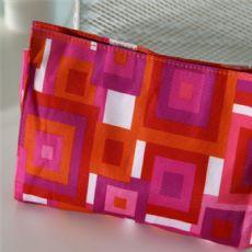 个性化创意几何图案化妆包 车缝涤纶迷宫化妆零钱包 厂家定做直