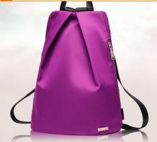 潮流百搭尼龙竖款大容量优雅时尚旅行双肩包多口袋设计厂家定制