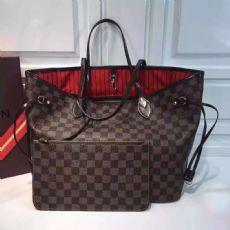 LV  N41358 啡格红里购物袋