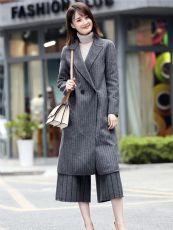 女装品牌折扣欧美潮牌双面羊绒大衣品牌剪标