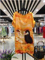 迪娜丝2017时尚高端真丝连衣裙专柜折扣女装批发货源哪里有