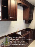 长沙工厂定制原木家具、樱桃木原木酒柜、酒架订做省心省力