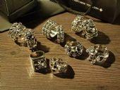 Chrome hearts ring 克罗心纯银戒指十字墓碑朋克风格经典款