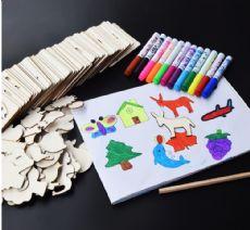 儿童填色描画模板厂家货源 DIY玩具批发货源