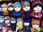 摆地摊展销会热销货源儿童帽子+围脖套装