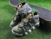 耐克皮蓬运动篮球鞋军绿变色龙
