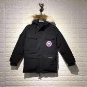 加拿大鹅Canada goose黑色男女同款抗寒时尚羽绒服