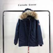 06款加拿大鹅Canada goose经典蓝色连帽抗寒羽绒服