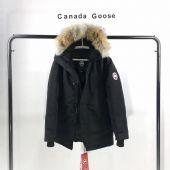 加拿大鹅Canada goose黑色男女同款时尚保暖羽绒服
