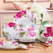 年终活动礼品陶瓷餐具批发 中高档陶瓷餐具定制