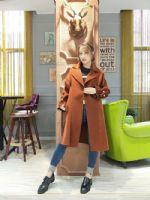 双面羊绒大衣品牌折扣服装尾货 品牌女装折扣店拿货
