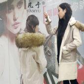 大毛领毛皮毛一体麂皮绒大衣女2017冬季新款韩版中长款外套棉