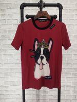 杜嘉班纳Dolce&Gabbana18新款短袖T恤狗年红色