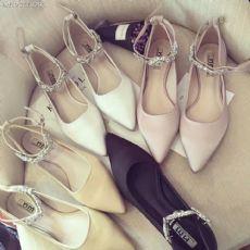韩版时尚水钻搭扣单鞋