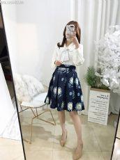 原创专柜,经典简约丝带衬衫➕定制花色短裙