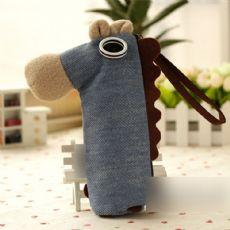 韩国椰子马笔袋 新款可爱创意桌面简约大容量文具袋 厂家定制