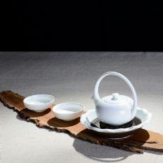 花好月圆-定窑白瓷提梁壶茶具套装礼盒