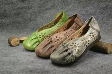 广州真皮女鞋厂家批发,手工复古真皮女鞋,原创民族风真皮女鞋子