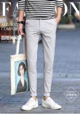 春夏男士新款日系修身显瘦气质百搭小脚休闲长裤图片