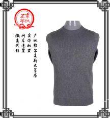 圆领t恤男装纯色毛衣套头纯羊绒针织衫中年休闲羊绒品牌搭扣外套