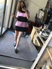 正品连衣裙,版型上身自己看,超好,三个尺码,是款式板,胖瘦都